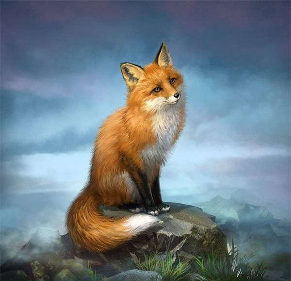 Celtic Fox Animal Zodiac Sign